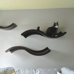 Pet Haus Wave Wall Mounted Cat Perch