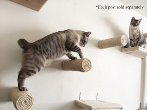 CatastrophiCreations One Floating Sisal Cat Post Step